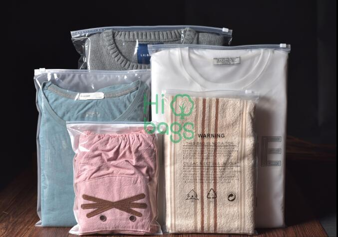 customized design and size slider bag  foor cloths